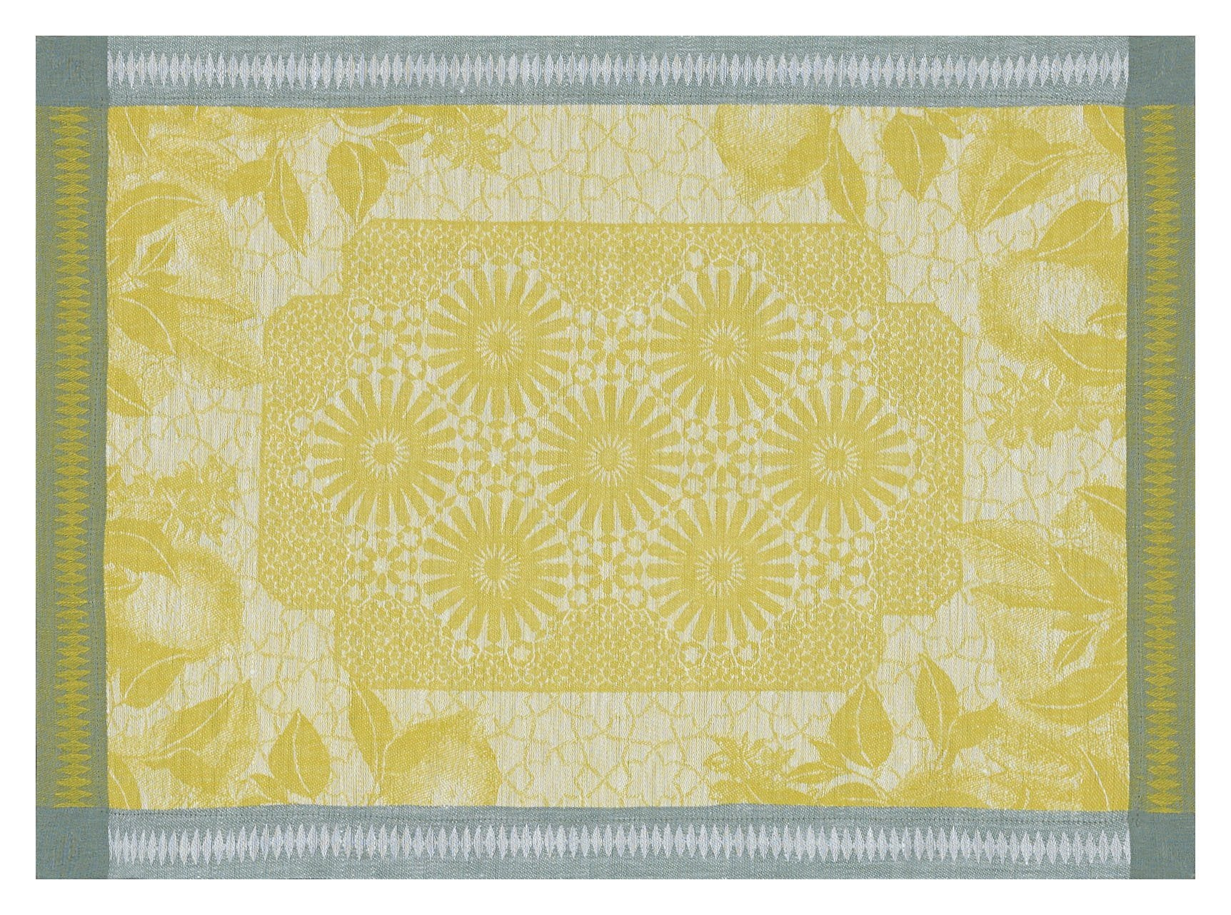 Le Jacquard Français Table Linen Jardin D'Orient Yellow Fig Linens placemat