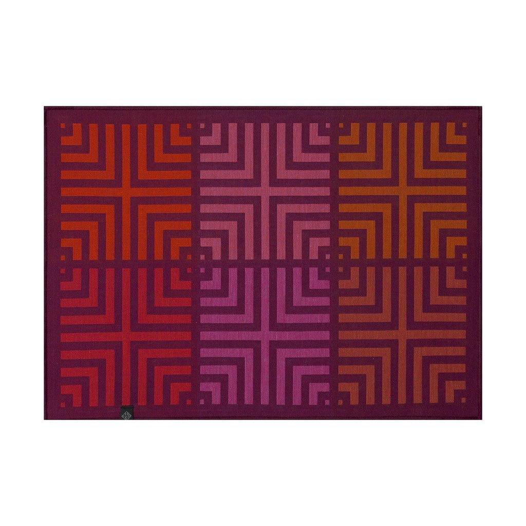 Le Jacquard Français Kaléidoscope Reversible Placemats Fig Linens Illusion Purple
