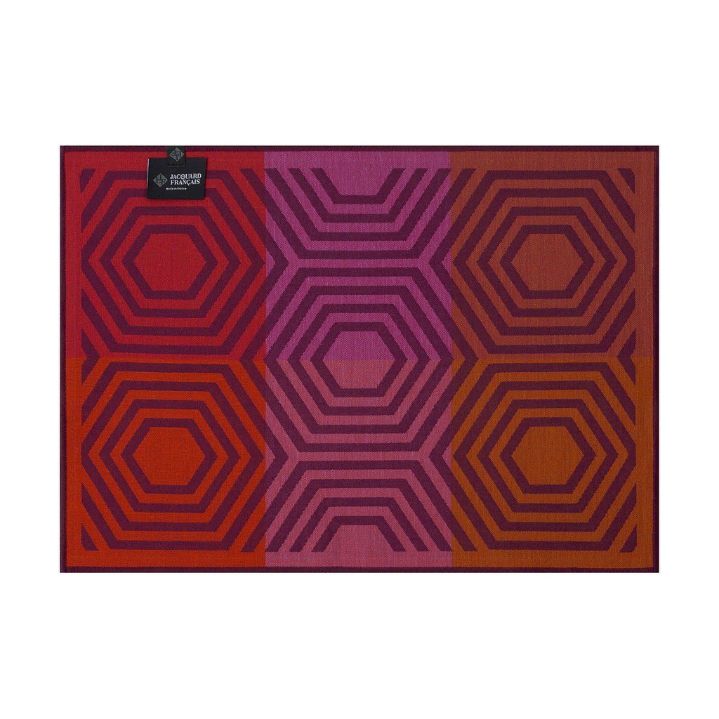 Le Jacquard Français Kaléidoscope Reversible Placemats Fig Linens Vibration Purple