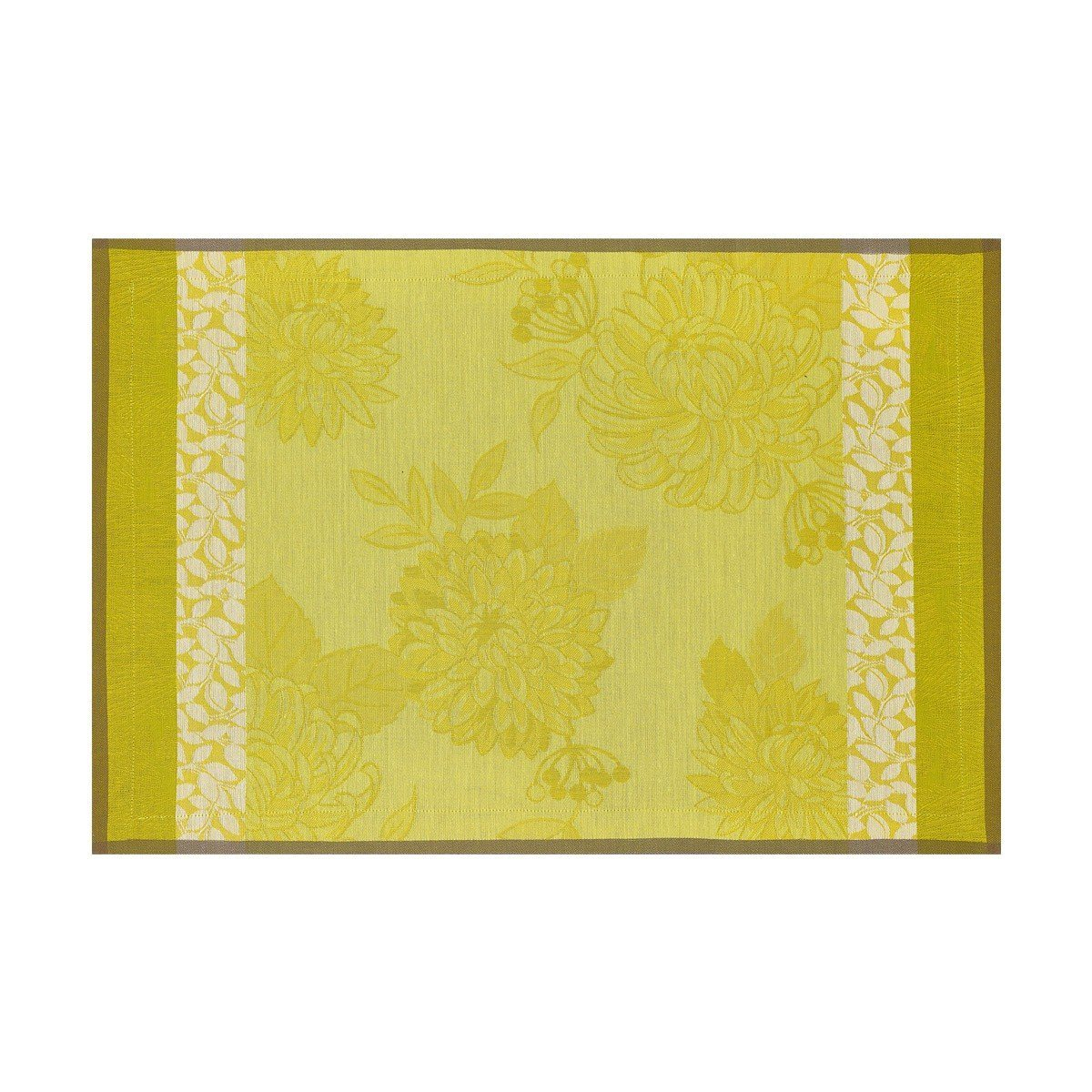 Le Jacquard Français Table Linen Parfums De Bagatelle Fig Linens Freesia Green Yellow Placemat