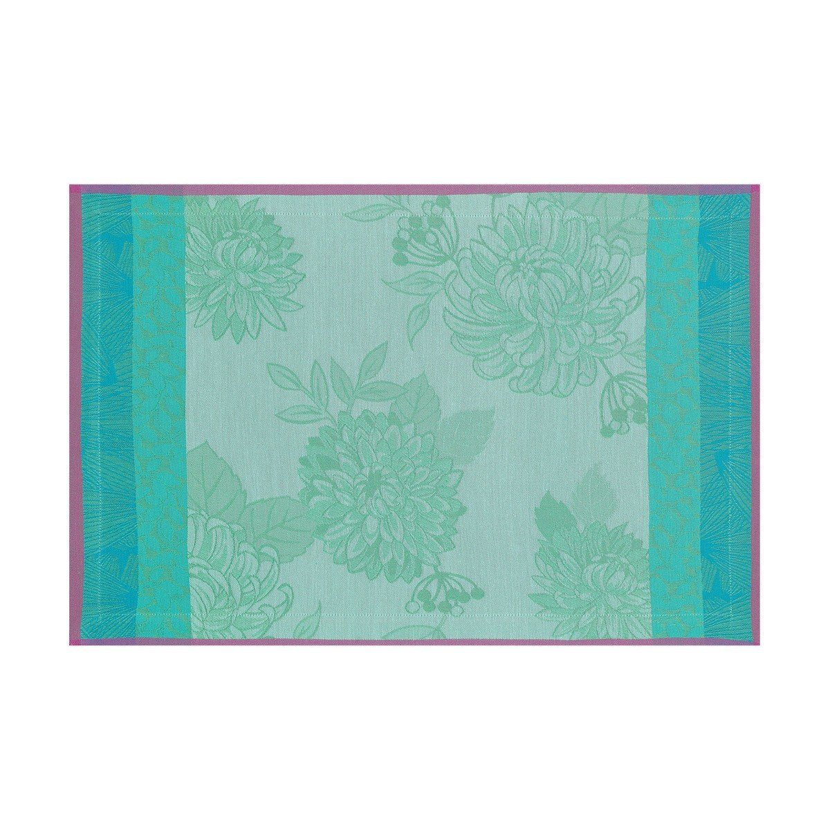 Le Jacquard Français Table Linen Parfums De Bagatelle Fig Linens Turquoise  placemat