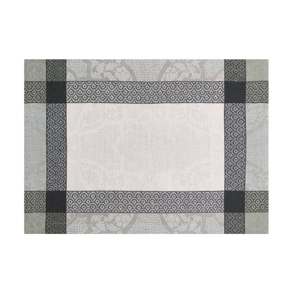 Le Jacquard Français Table Linen Pondichéry Marble Fig Linens Gray White placemat