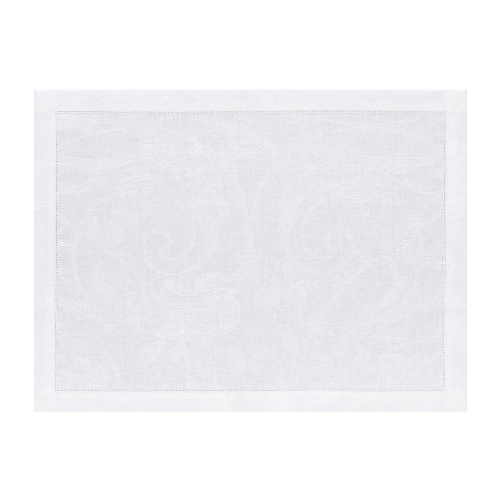 Le Jacquard Français Table Linen Tivoli in White Fig Linens placemat