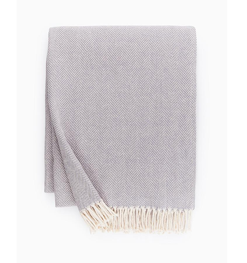 Fig Linens - Sferra Celine lilac throw blanket