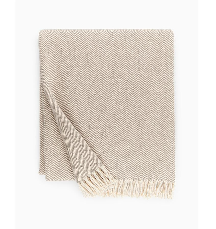 Fig Linens - Sferra Celine mushroom throw