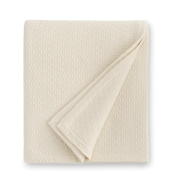 Corino Ivory Cotton Blanket by Sferra |  Fig Linens and Home - Ivory Cotton blanket