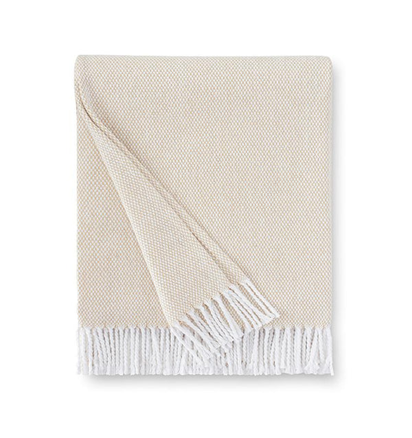 Terzo Sand Throw by Sferra | Fig Linens and Home - Beige throw