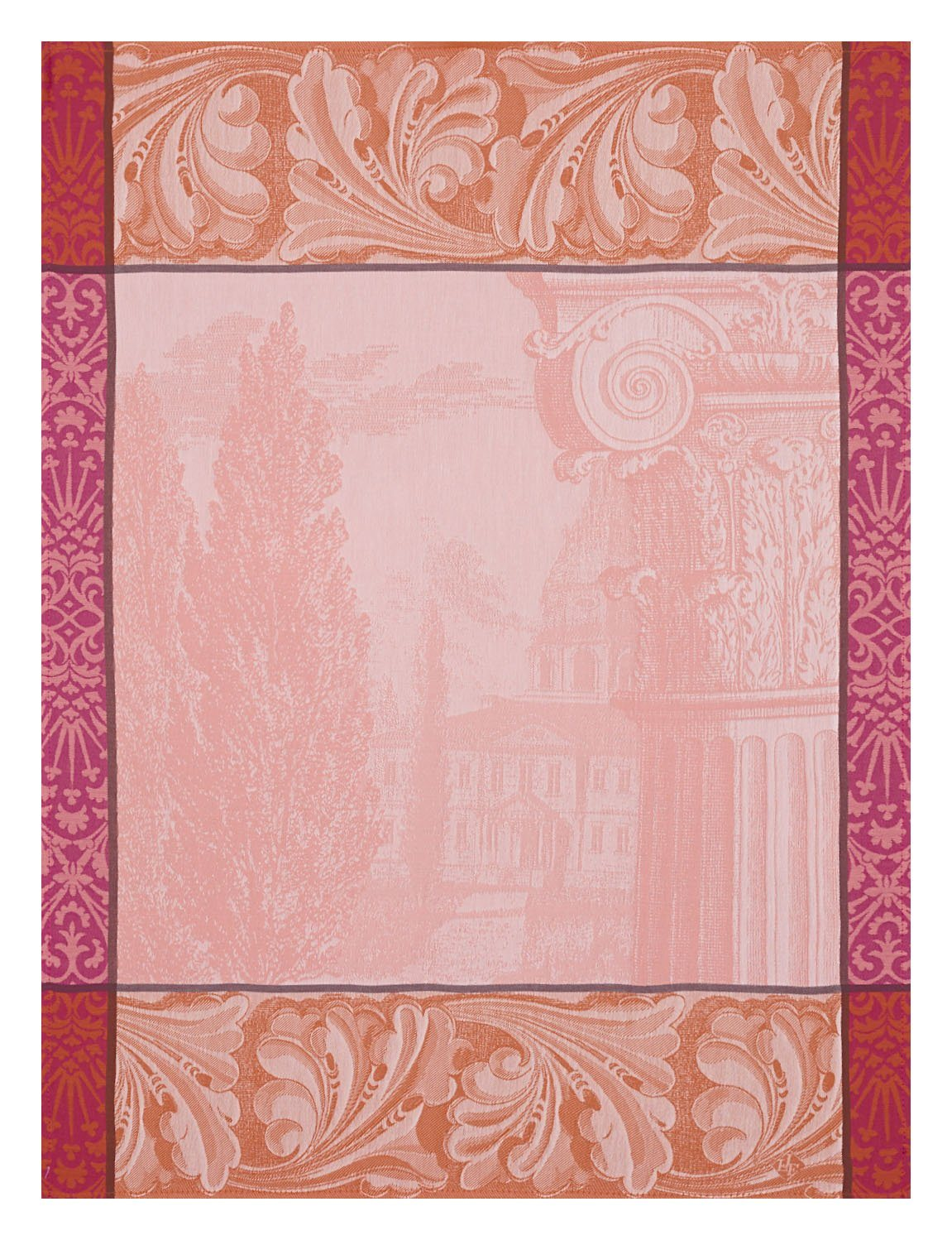 Kitchen Linen | Baroque Pink Tea Towels - Set of 4 | Fig Linens