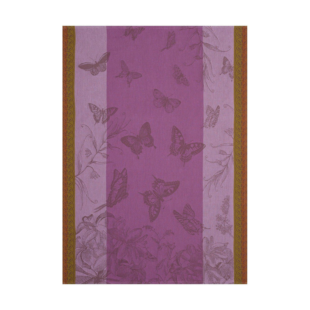 Le Jacquard Français Jardin Des Papillons Kitchen Tea Towels Fig Linens purple