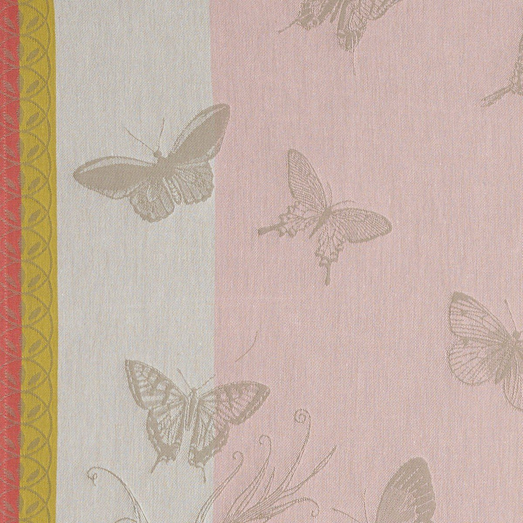 Le Jacquard Français Jardin Des Papillons Kitchen Tea Towels Fig Linens pink