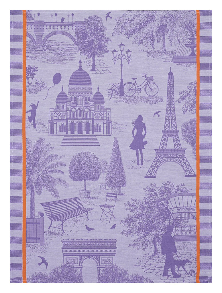 Le Jacquard Français Kitchen Tea Towels toile de Paris Fig Linens purple black currant