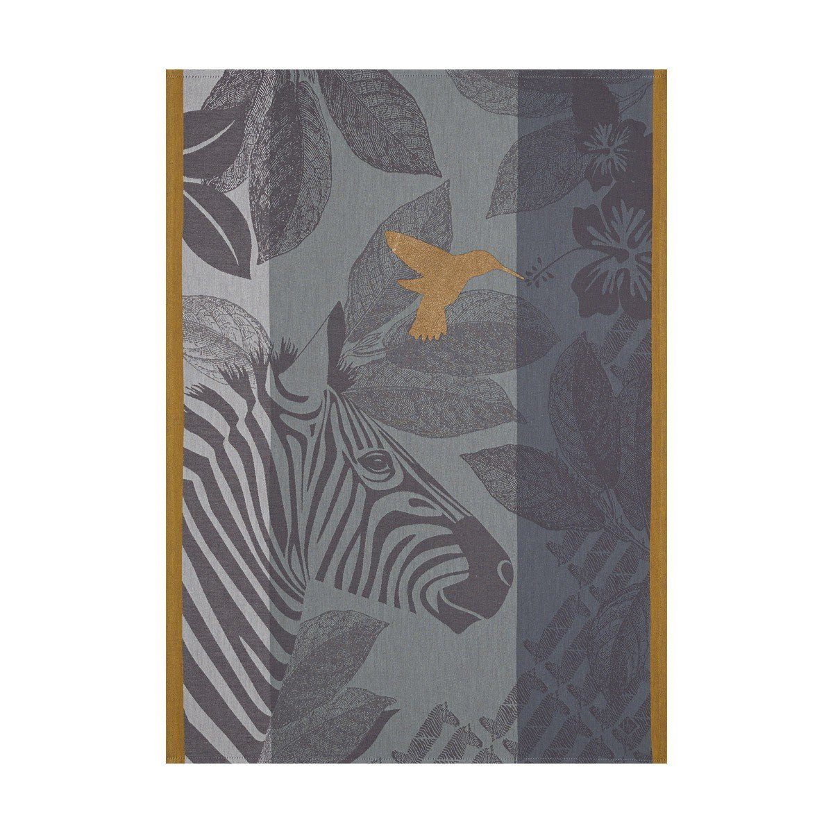 Zebra Tea Towels Set of 4 by Le Jacquard Français Fig Linens grey