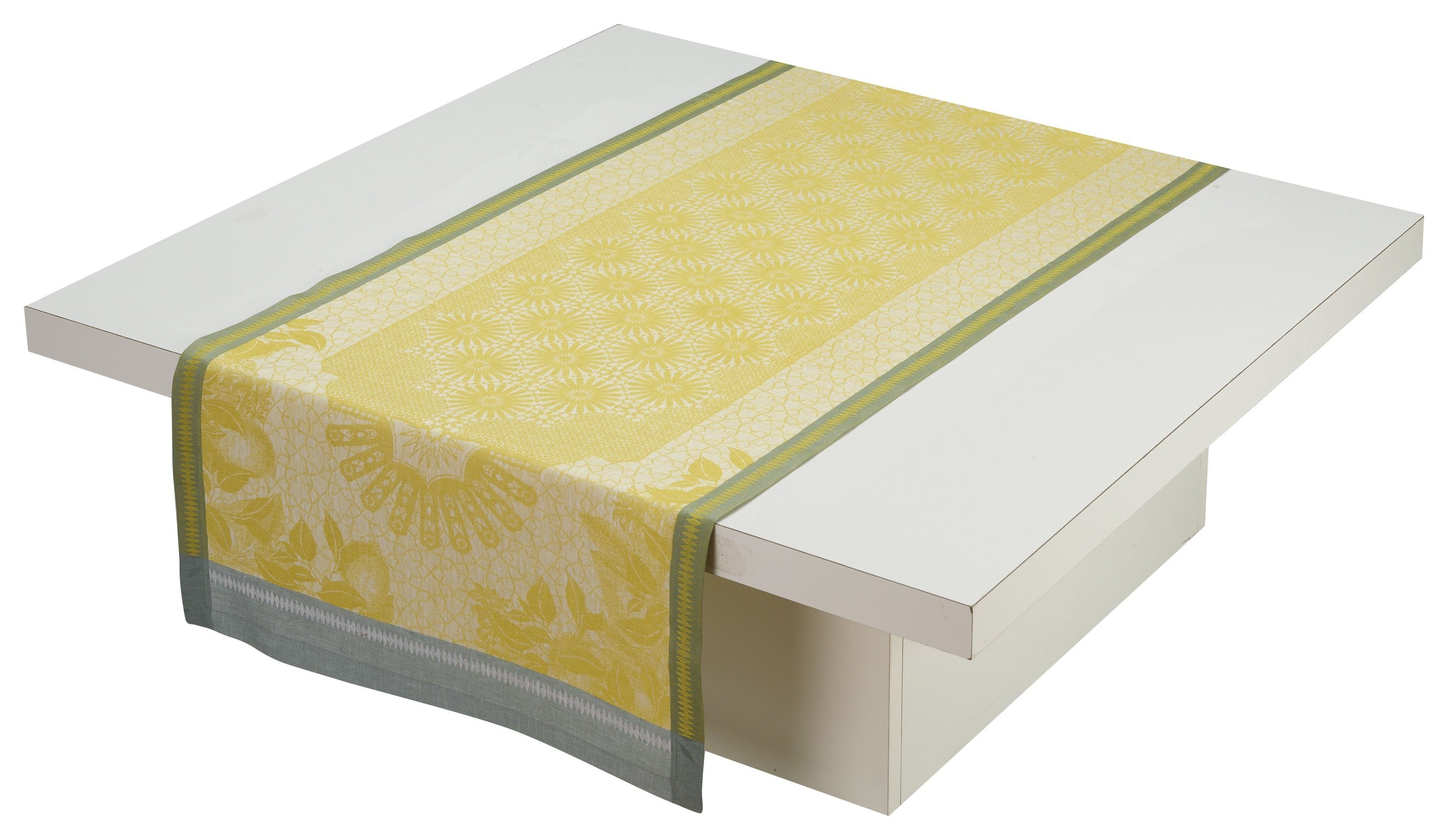Le Jacquard Français Table Linen Jardin D'Orient Yellow Fig Linens runner