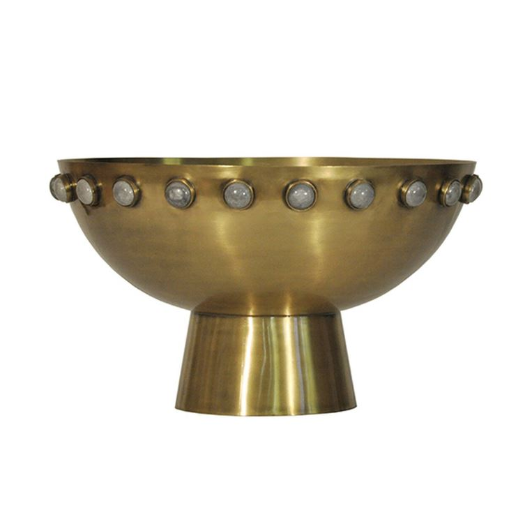 Harvey Antique Brass Decorative Bowl by Worlds Away | Fig Linens