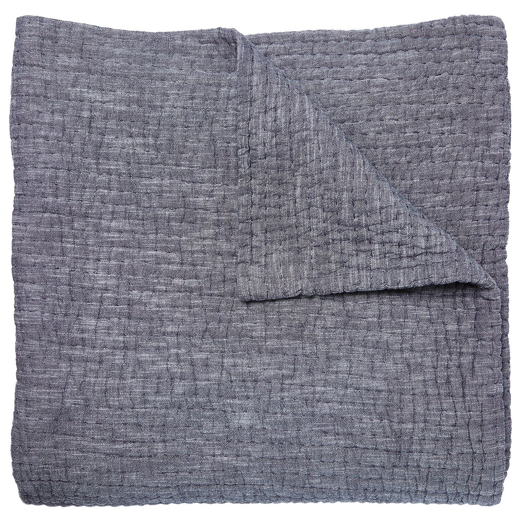 Vivada Gray Coverlet by John Robshaw | Fig Linens and Home