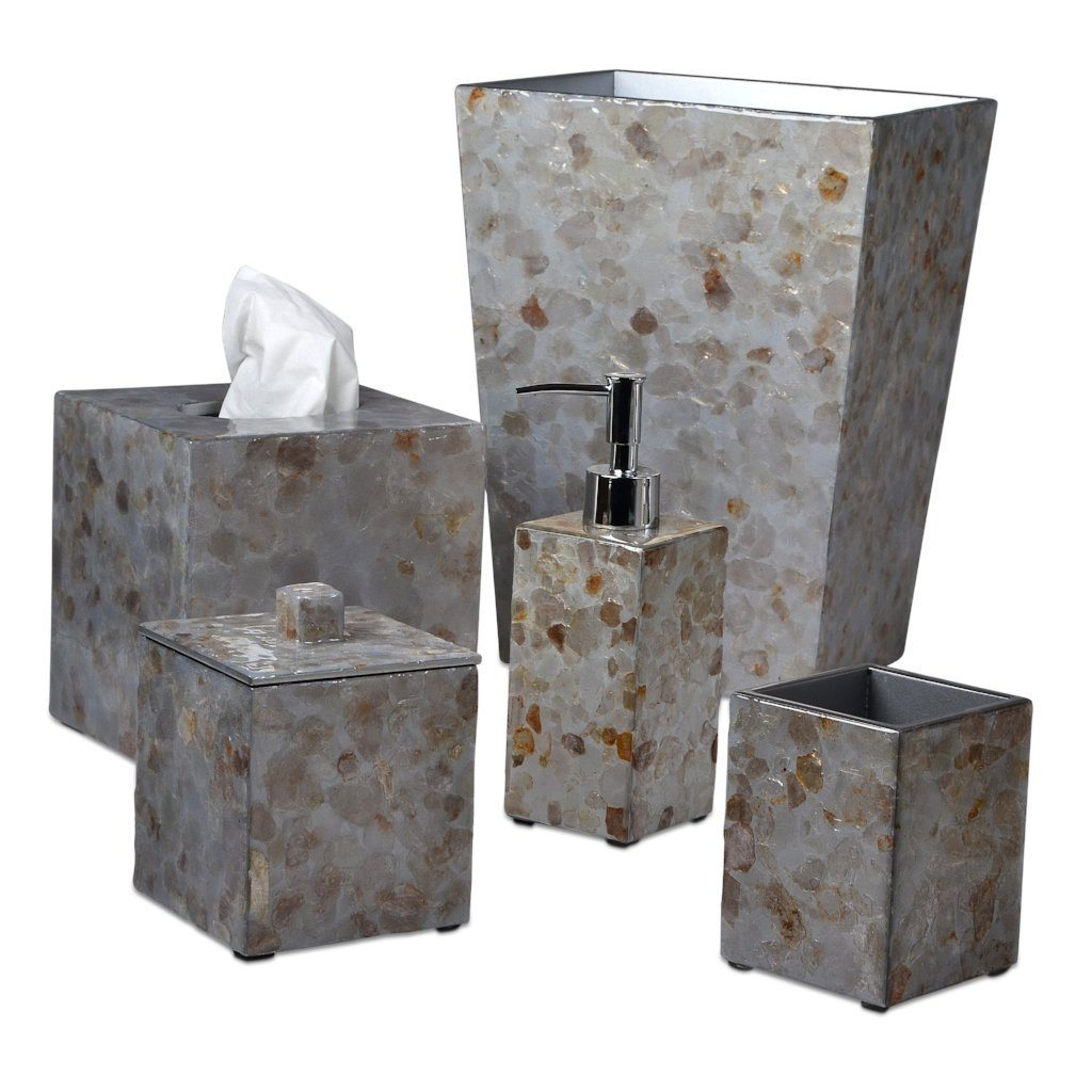 Mica Silver Bath Accessories by Mike + Ally