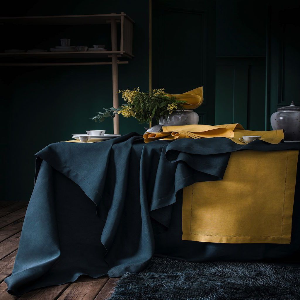 Florence Cypress Table Linens by Alexandre Turpault