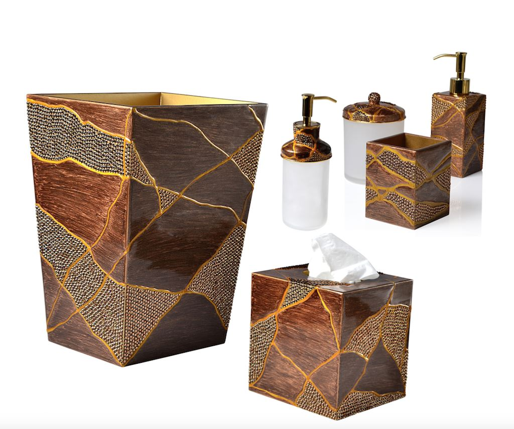 Genesis Bronze Bath Accessories by Mike + Ally