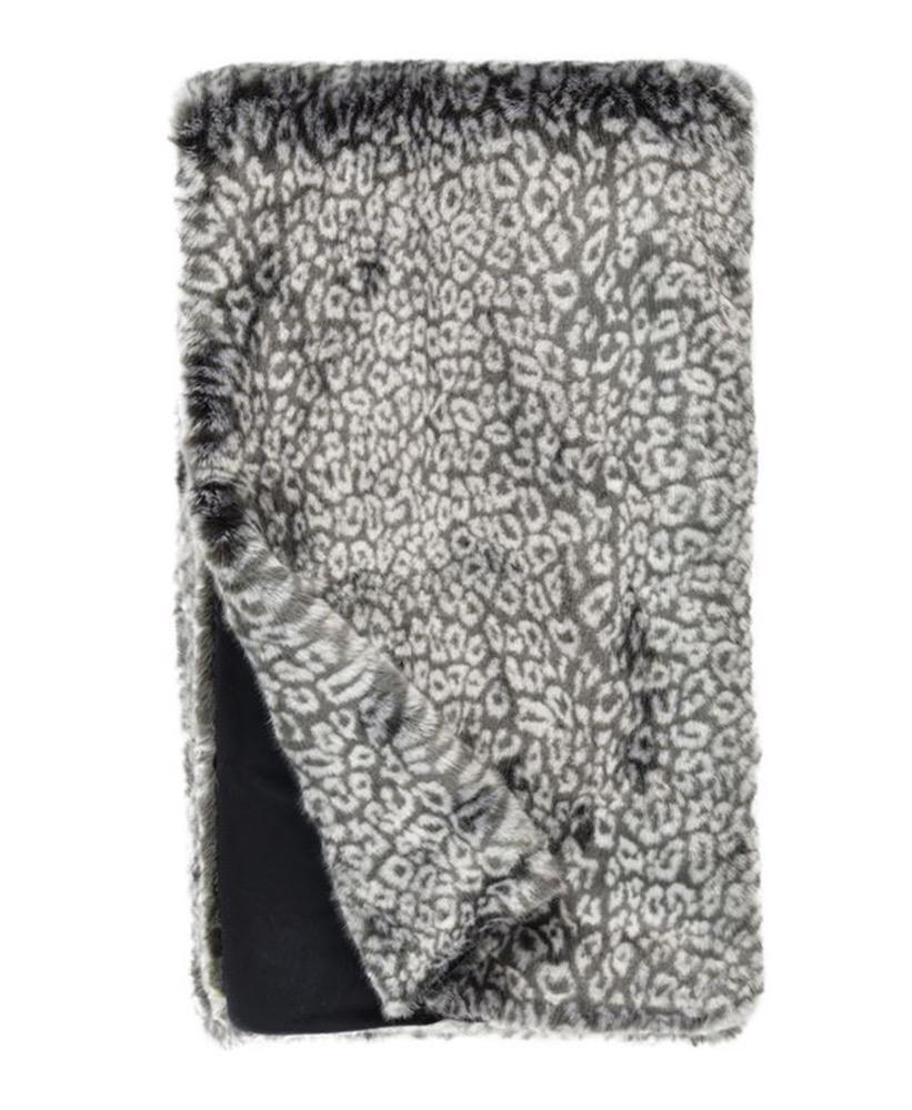 Grey Cheetah Faux Fur Throw | Couture Collection at Fig linens