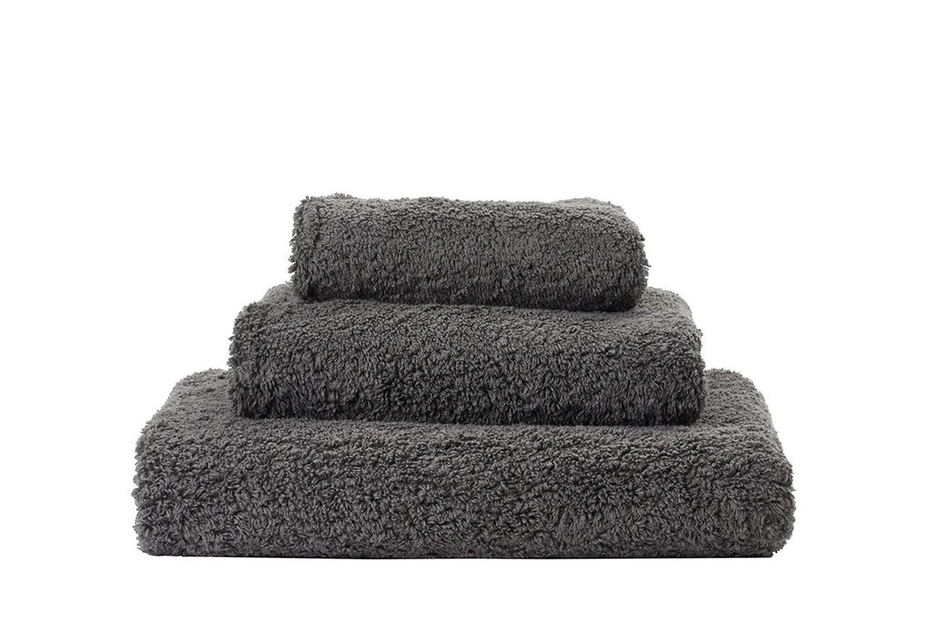 Abyss Super Pile Gris Towels - Fig Linens