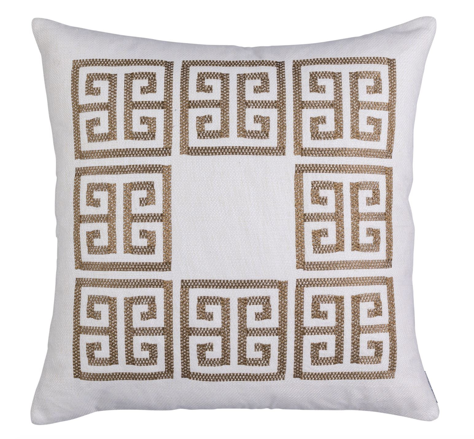 Guy Gold Square Border Pillow by Lili Alessandra