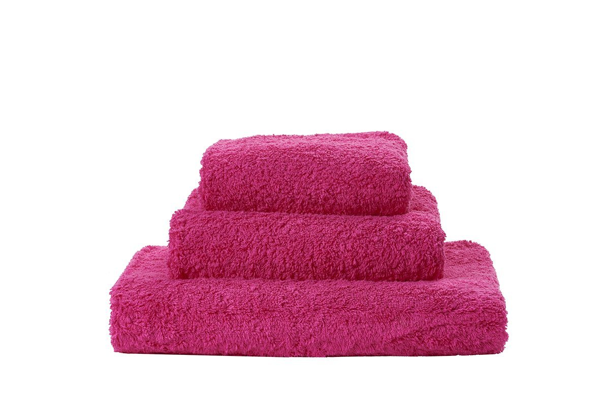 Set of Abyss Super Pile Towels in Happy Pink 570