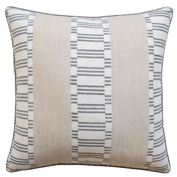 Japonic Stripe Grey Throw Pillow | Ryan Studio at Fig Linens