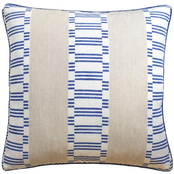 Japonic Stripe Navy Blue Pillow | Ryan Studio at Fig Linens