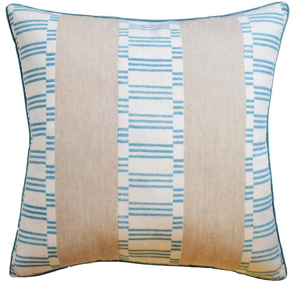 Japonic Stripe Robin's Egg Blue Throw Pillow | Ryan Studio at Fig Linens