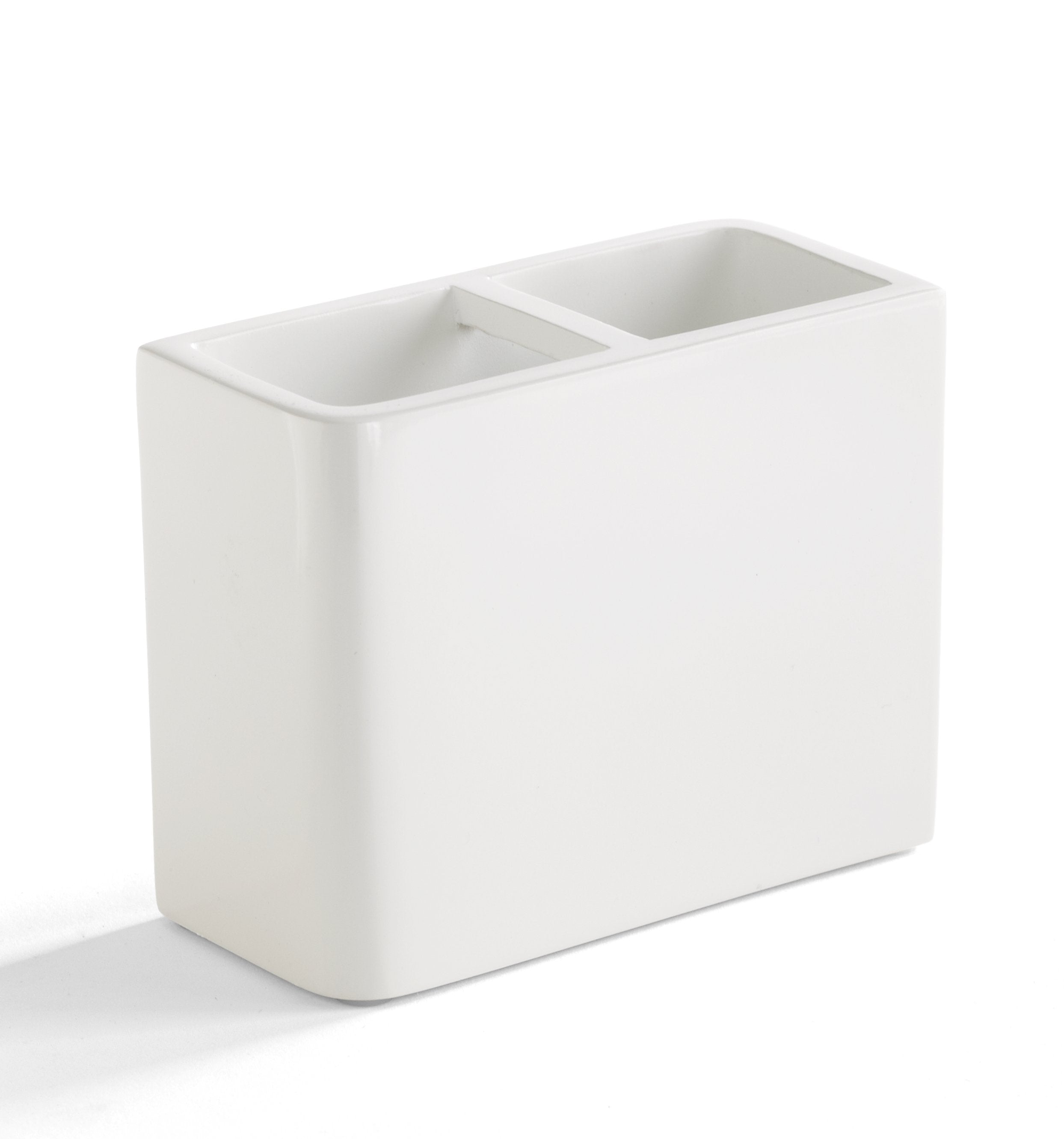 Kassatex Lacca White Toothbrush Holder