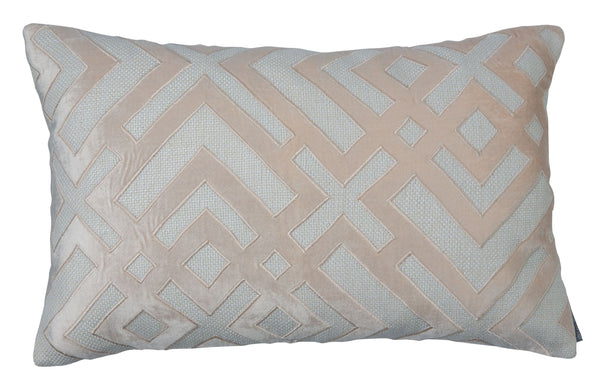 Karl Blush Small Rectangle Pillow by Lili Alessandra
