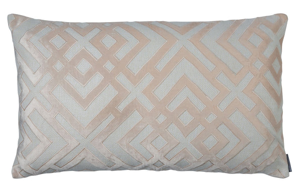 Karl Ivory Blush 18x30 Large Rectangular Lumbar Pillow Lili Alessandra