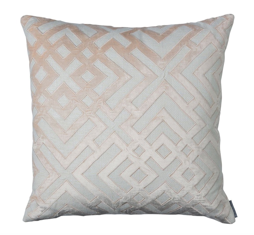 Karl Blush Square Pillow by Lili Alessandra