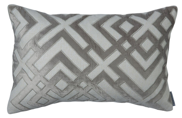 Karl Platinum Small Rectangle Pillow by Lili Alessandra