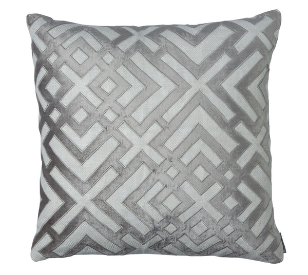 Karl Platinum Square Pillow by Lili Alessandra