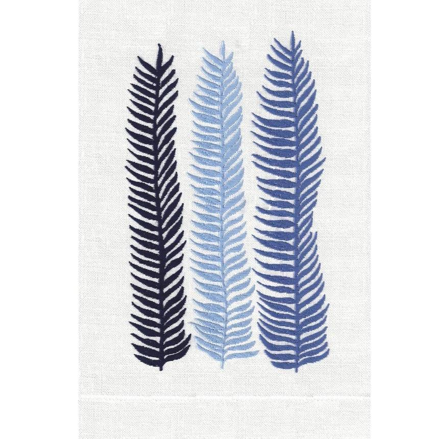 Cobalt Kelp Linen Guest Towels | Fig Linens and Home