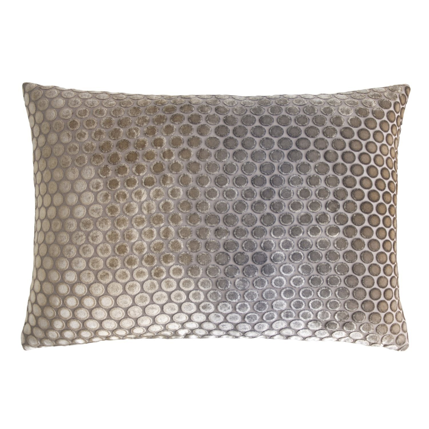 kevin o'brien dots coyote velvet pillow