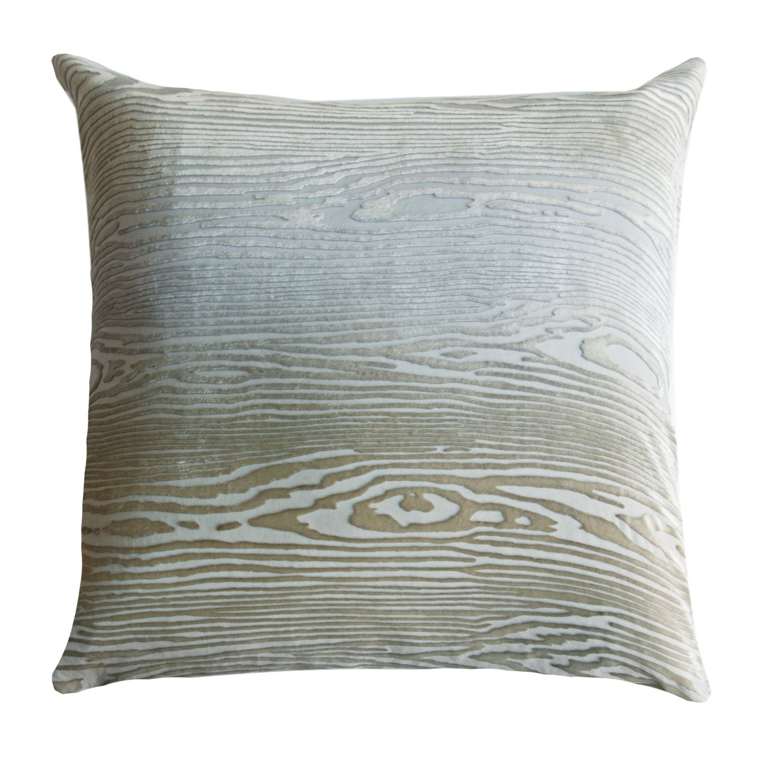 Woodgrain Velvet Nickel Pillows by Kevin O'Brien Studio - Fig Linens