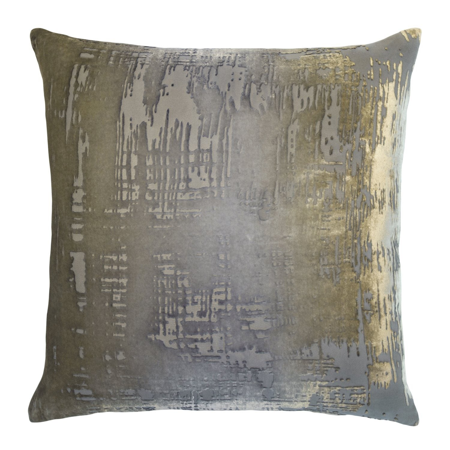 Fig Linens - Brush Stroke Velvet Nickel Pillows Kevin O'Brien Studio