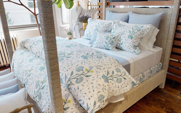 Khilana Bedding shown with Pool | Matouk Schumacher at Fig Linens