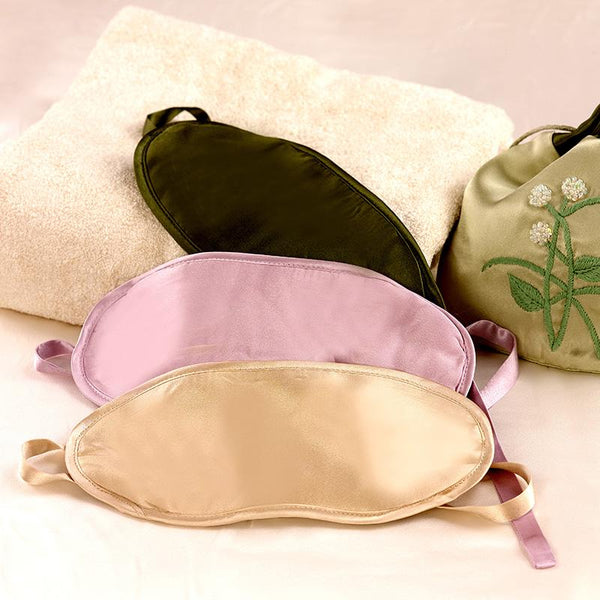 Kumi Kookoon Silk-Filled Eye Masks Fig Linens