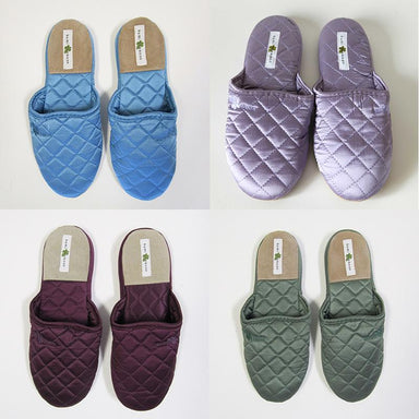 Kumi Kookoon Quilted Silk Slippers | Fig Linens