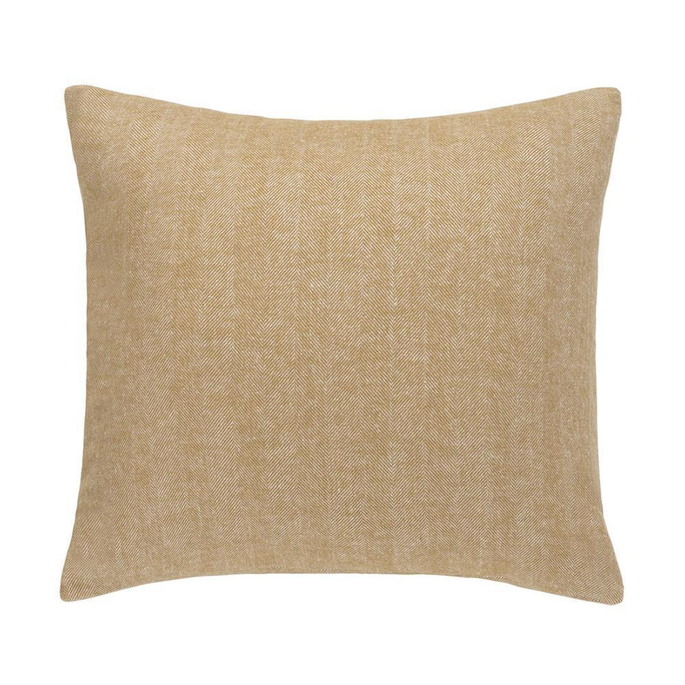 Cider Solid Herringbone Pillow by Lands Downunder
