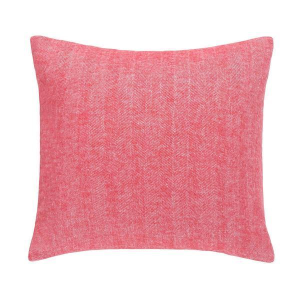 Coral Solid Herringbone Pillow by Lands Downunder