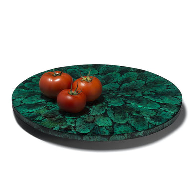 Mother of Pearl Green Revolving Tray | Lazy Susan by LaDorada
