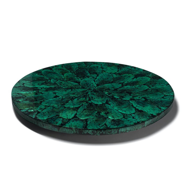 Lazy Susan in Green Mother of Pearl | LaDorada at Fig Linens