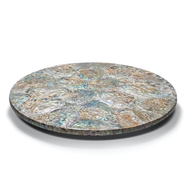 Lazy Susan | Mother of Pearl Revolving Tray from LaDorada at Fig Linens