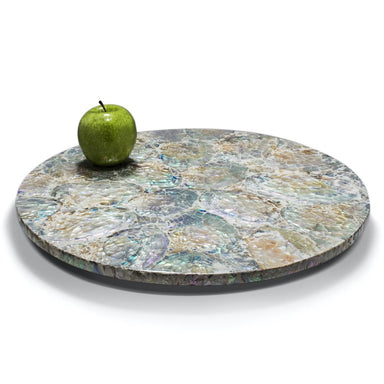 Mother of Pearl Natural Revolving Tray | LaDorada Lazy Susan