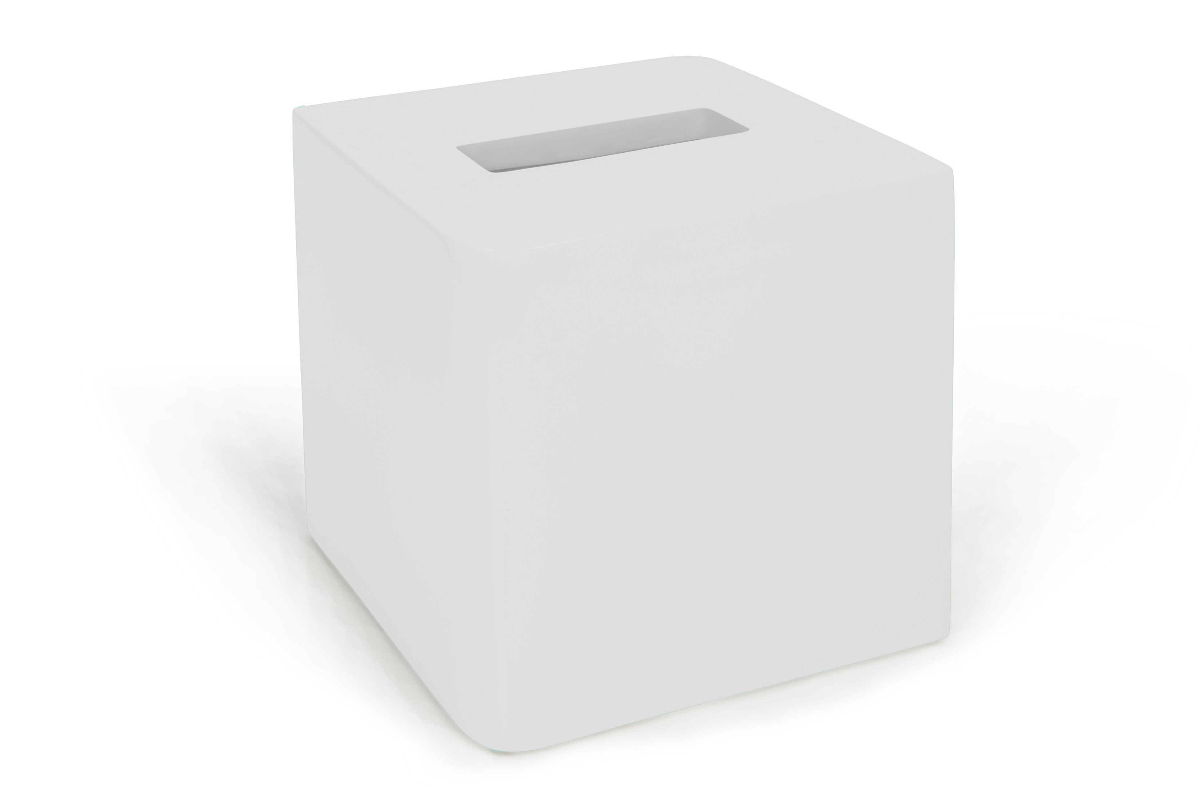 Kassatex Lacca White Tissue Box Cover