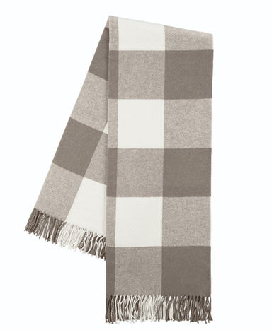 Buffalo Check Throw in Barnwood at Fig Linens